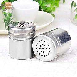 FENSIN 1PC Grillpfeffer der Edelstahlgewürzglasküche MSG-Glashauptpfefferflasche kann im Freien