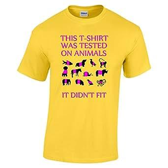 Funny 024 Tested On Animals Daisy Yellow Gildan Heavy