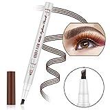 Augenbrauenstift Wasserfest Augenbrauenstift Tattoo Augenbrauenstift Definieren Sie einen hochnatürlichen Make-up-Bobble Flow(Braun)