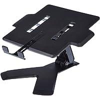 AmazonBasics - Soporte de Elevación para Ordenador Portátil, Negro