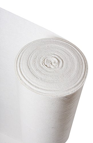Standard White Fleece Liner - Temporary Hard Floor Protection Roll (1) by Trio Plus 1 Fleece-liner
