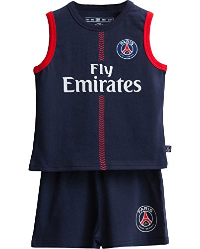 5bbb4d05ec28b T shirt + Shorts Set Paris Saint-Germain Official Collection Baby Boy Size