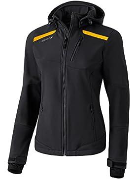 Erima para mujer chaqueta softshell Negro Schwarz/Curcuma Talla:50 [DE 48]