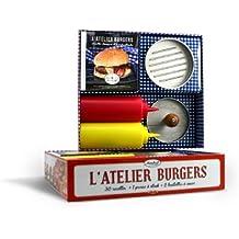 L'atelier burgers, recettes classiques et franchouillardes : Coffret livre et accessoires
