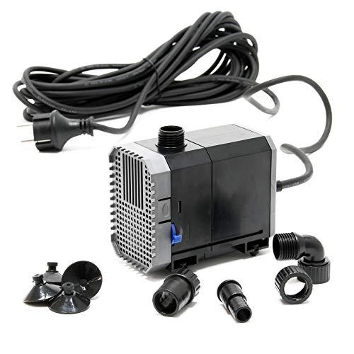 SunSun CHJ-2000-10 Teichpumpe 2000l/h 35W, als Filter- oder Bachlaufpumpe, Kabellänge 10m