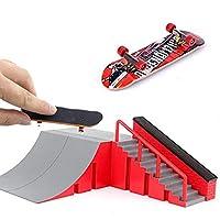 Mini Fingerboard Skate Park Kit for Tech Deck Circuit Board DIY Finger Skate Boarding Ultimate Sport Training Props Toy Gift for Kids