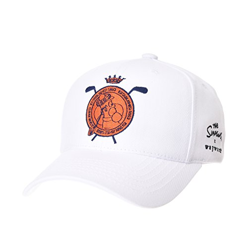 70ef180b02f7a WITHMOONS Baseballmütze Mützen Caps The Simpsons Baseball Cap Golf Homer  Embroidery Hat HL11030 (White)