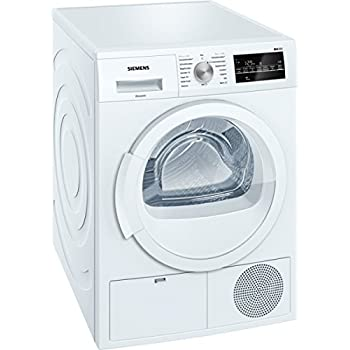 Siemens WT46G400 iQ500 Kondensationstrockner / B / kWh / 8 kg / Weiß / Großes Display mit Endezeitvorwahl