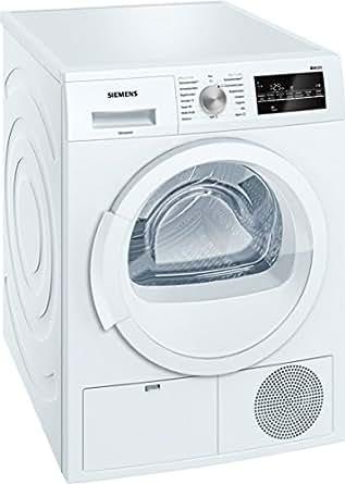 Siemens WT46G400 iQ500 Kondensationstrockner / B / kWh / 8 kg / Großes Display mit Endezeitvorwahl weiß