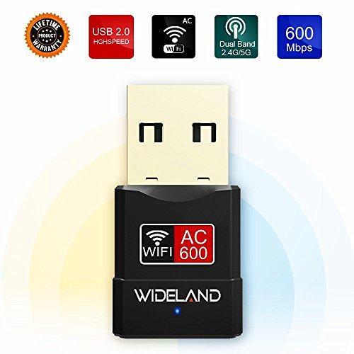 WLAN USB Adapter, Mini Dual Band Wireless Adapter Stick mit High Gain Antenne, WiFi Dongle Adapter für Desktop / Laptop / PC, Unterstützung für Windows XP / Vista / 7/8 / 8.1 / 10 Mac OS X 10.4- 10.12 (Wireless-wifi-adapter Desktop Für)