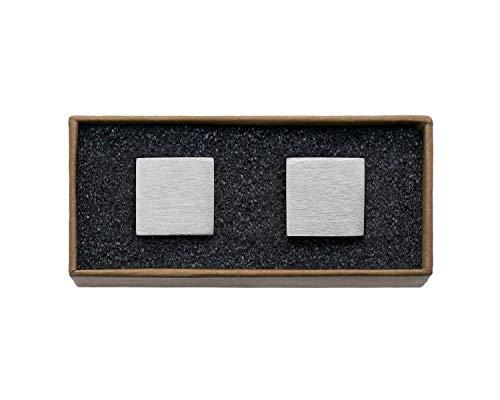 """VALDERO® Herren Manschettenknöpfe -\""""Squares\"""" in Box (Silber)"""