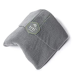 Trtl Pillow - Scientifically Proven Super Soft Neck Support Travel Pillow - Machine Washable Grey