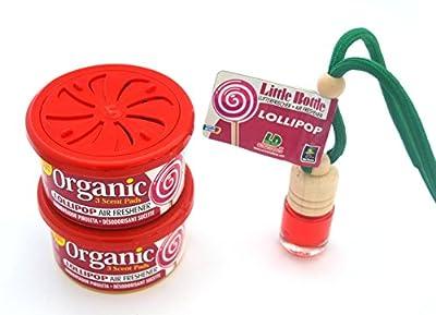 L & D 2+ 1Parfum Trio dans le parfum d'Endroits Lollipop. 2x Organic Scent Parfum Boîte + 1Little Bottle Parfum Flacon désodorisant