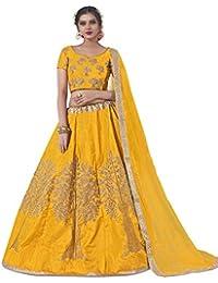 8fc719761 AASVAA Women s Bangalori Silk Weaving Semi-Stitched Lehenga Choli  (NYABA2850