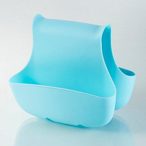 spule-organizer-korb-blau-zwei-tasche-hangende-halterung-regal-kuche-badezimmer-werkzeug