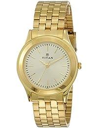 Titan Analog Gold Dial Men's Watch -NJ1648YM02C