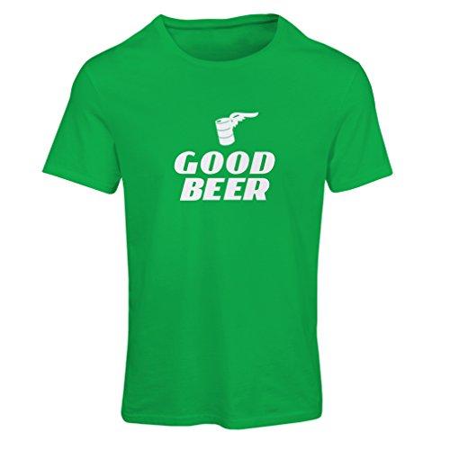 Frauen T-Shirt Ich brauche ein gutes Bier - Lustige Geschenkideen für Bierliebhaber, Bar, Partykleidung (Medium Grün Weiß) (Grünes Humor Bier T-shirt)