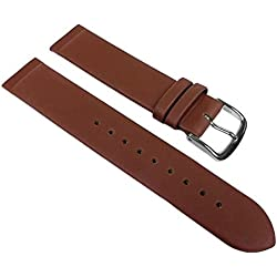 Manufaktur Replacement Band Copenhagen Calf Leather XL Brown Match Skagen/Boccia, Bering, Rolf Kremer, DD, Obaku etc 23122S; Bridge Width: 22 mm