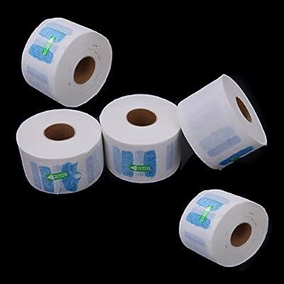 Anself 5pcs Jetable Serviette En Papier De Cou Couverture Pour Salon Produit de Coiffure Echarpe En Papier Avec Point d'arrêt Accessoire de cheveux