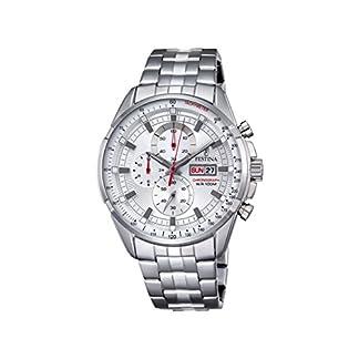 Festina ChronoF6844/1 – Reloj de Pulsera con cronógrafo para Hombre (Mecanismo de Cuarzo, Esfera Plateada y Correa de Acero Inoxidable Plateada)