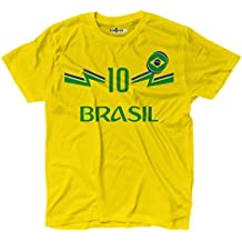 KiarenzaFD Camiseta Camiseta Fútbol Junior Selección Neymar Brasil 10 Shirts b281ca71f84