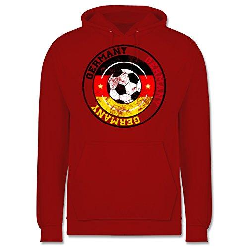 EM 2016 - Frankreich - Germany Kreis & Fußball Vintage - Männer Premium Kapuzenpullover / Hoodie Rot