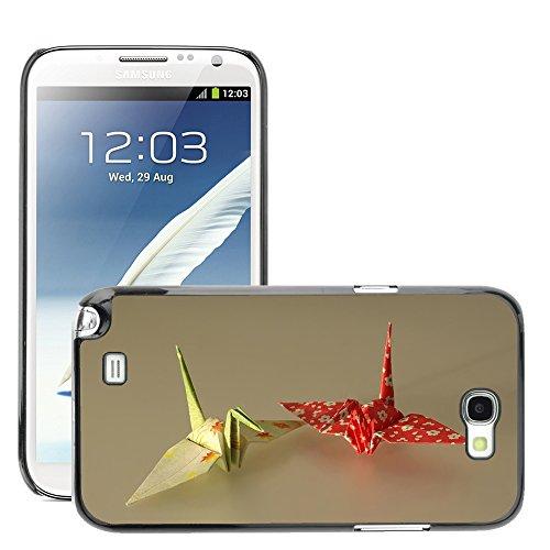 Hülle Case Schutzhülle Cover Premium Case // M00127152 Origami Papier Kunstdruckpapier Folds // Samsung Galaxy Note 2 II N7100