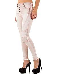 e6e0be8c6e08 Schuhcity24 Damen Jeans Hose Jeanshose Damenjeans Used Look High Waist  Hoher Bund Bikerjeans Skinny Röhre Röhrenjeans
