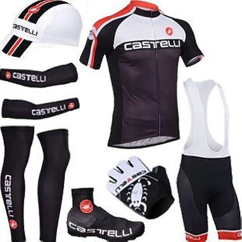 CASTELLI BLACK estilo bikewear ciclismo de deportes de conjunto completo (M)