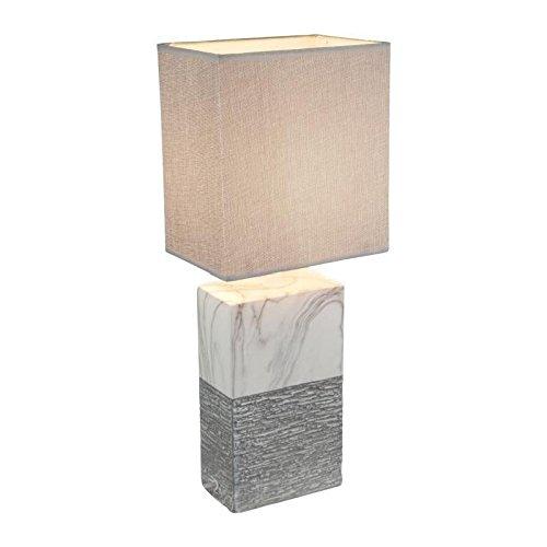 Liebreizende 1-flg Tisch Leuchte Lampe Arbeitszimmer Marmor Globo JEREMY 21643T -