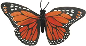 """Painted Butterflies With Wire-4-1/2"""" Orange Monarch 1/Pkg"""