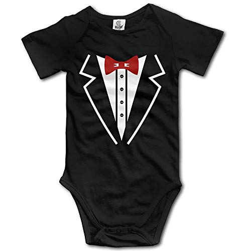 Party Socks Tuxedo Printed with Bow Tie Newborn Hort Sleeves Triangle Romper for 0-24m Baby -