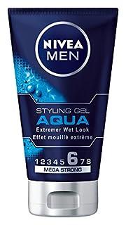 NIVEA Men Haar-Gel für Männer, Styling Gel, Extremer Wet Look, Mega Starker Halt, 150 ml Tube, Aqua (B0090QRG7K)   Amazon Products