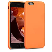 kwmobile TPU Silicone Case Compatible with Apple iPhone 6 Plus / 6S Plus - Soft Flexible Rubber Protective Cover - Cosmic Orange