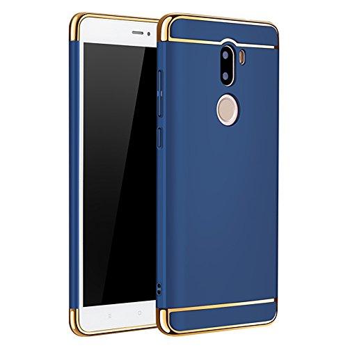 Xiaomi Mi 5s Plus Hülle, MSVII® 3-in-1 Design PC Hülle Schutzhülle Case Und Displayschutzfolie für Xiaomi Mi 5s Plus (Nicht mit Xiaomi Mi 5s kompatibel) - Gold JY50118 Blau