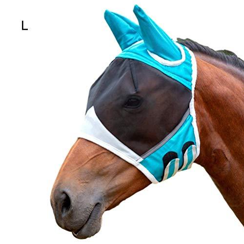 Gutyan Maschera antimosche con Cavallo Maschera Traspirante per Cavalli Maschera antizanzare Maschera traslucida per Cavalli