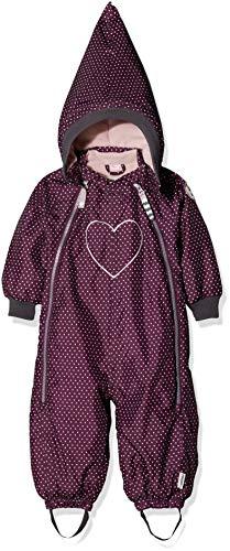 Racoon Baby-Mädchen Schneeanzug Sally dot (Wassersäule 9.000), Mehrfarbig (Dark Purple DAR), 80