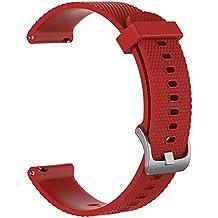 Feicuan Correa de reloj de repuesto para Garmin Vivoactive 3 Vivomove HR, Venda De Reloj de silicona suave ajustable Pulsera de repuesto Correa para hombres Mujeres