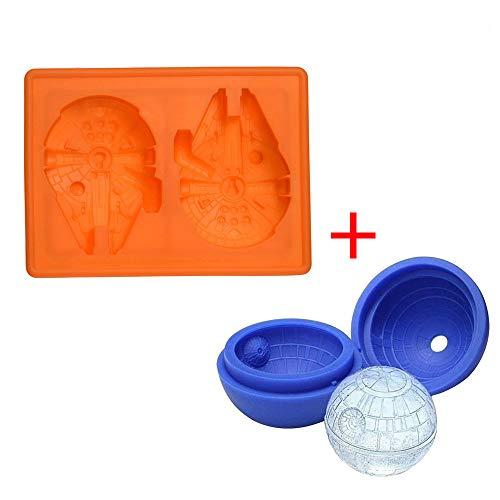 d Death Star Silikon Ice Tablett Star Wars CANDY Form Set/Schokolade Formen Ball Whiskey Backen für Weihnachten Geburtstag ()