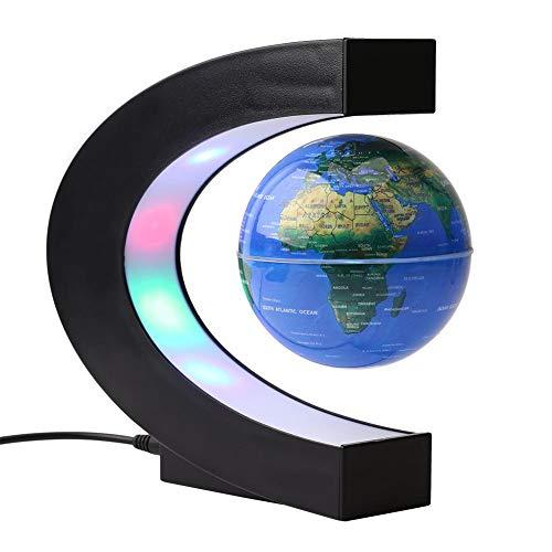 3'levitación en forma de C globo flotante de color levitación magnética LED mapa mundial del globo para la decoración del escritorio del hogar/oficina(eu)