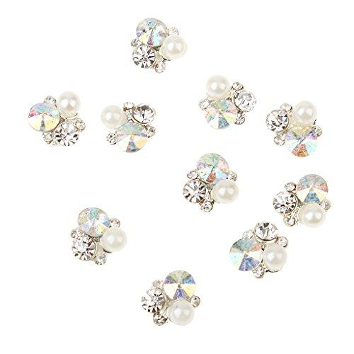 Gazechimp 10pcs 3D Arte Etiqueta Clavo Diamantes de Imitación Decoraciones de Uñas Maquillaje Joyería Repique Stricker - # 60