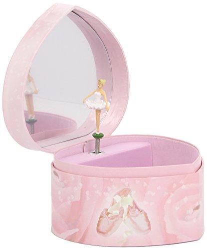 Original Trousselier Paris Trousselier S30974 - Spieluhr Herz White Ballerina (Spieldose, Musikdose, Spieluhren, Spieluhr mit Ballerina)