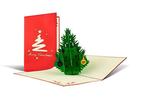 Weihnachtskarte mit Umschlag, Weihnachtsbaum, Gutschein, Klappkarte, edel, klassisch, besonders, christlich, hochwertig, Adventskarte, Geschenkidee, Frohe Weihnachten, Merry Christmas, W02