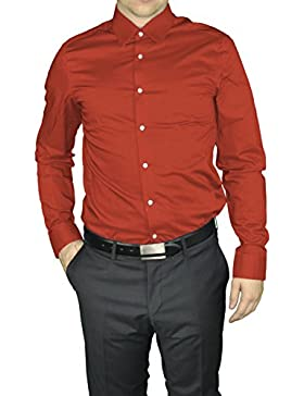 No necesita planchado Slim Fit (tallaje ajustado) camisa marca de varios colores, REDMOND (400130) - XS, blanco
