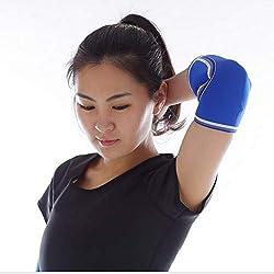 RTGFS 7mm Ellbogenmanschetten (Paar) Strapazierfähige Wrist Wraps-Unterstützung;Powerlifting, Tennis-Neoprenbandage für beide Frauen L Blau