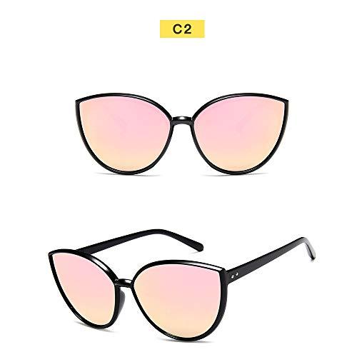 Wang-RX Sonnenbrille Frauen getönte Farbe Objektiv Reis Nagel Vintage Shaped Sun Glasses Female Eyewear
