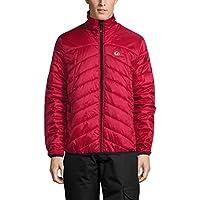 Ultrasport Advanced Chaqueta Loke para hombre, chaqueta para todo el año, chaqueta informal, chaqueta acolchada, adecuada como capa intermedia en invierno, pero también constituye un aliado ideal para todo el año, Rojo/Negro, 3XL