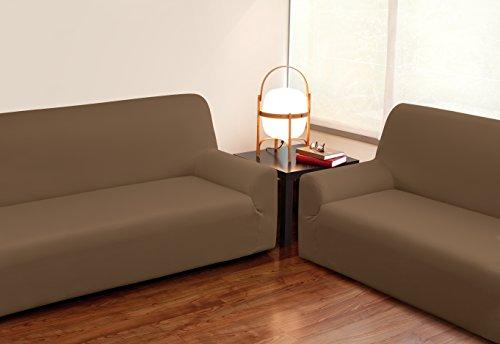 VELFONT – Bielastischer Sofabezug Roma - 2-Sitzer - Schokolade - verfügbar in verschiedenen Größen und Farben