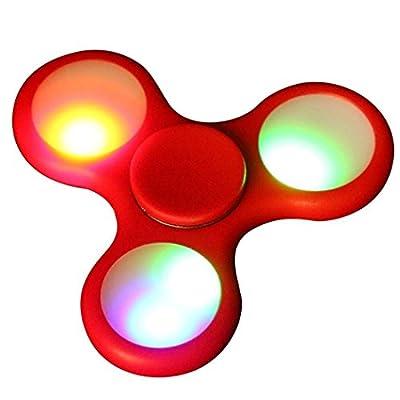 LED Light Fidget Hand Spinner,Bescita LED Light Fidget Hand Spinner Finger Toy EDC Focus Gyro Fast Shipping