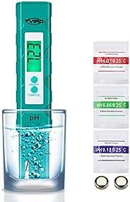 Tvrid PH Mètre,Testeur PH de qualité de l'eau Mesure pour 0-14 Ph,Digital LCD 0.01 Précision de Lecture av
